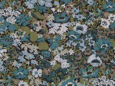 "LIBERTY PRINTS ""THORPE"" green tana lawn cotton fabric"