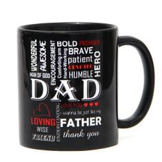 Celebrate the special occasion of father's day by gifting this beautifully designed 3.5x3 inches black ceramic mug. It features some of the qualities of your dad! Give this to your father and thank him for all the love he has bestowed on you. http://www.giftsbymeeta.com/bold-black-mug-gifts2295