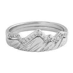Limited Edition 18 Karat White Stacking Teton Rings