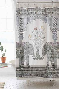 Magical Thinking Elephant Shower Curtain - Urban Outfitters
