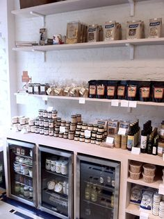 The wall of provisions patisserie in 2019 бар-ресторан, кафе Cafe Design, Store Design, Casa Wabi, Deli Shop, Bakery Store, Kiosk, Retail Shelving, Farm Shop, Shop Organization