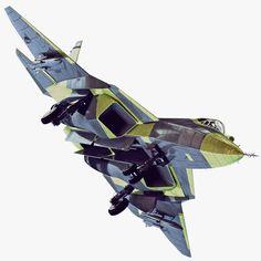 Max Sukhoi Pak Fa T50 - 3D Model