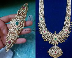 heavy diamond long haram, gold waist belts with screw system Indian Jewelry Sets, Indian Wedding Jewelry, Royal Jewelry, Gold Jewelry, India Jewelry, Stone Jewelry, Jewelry Findings, Diamond Choker, Diamond Jewellery