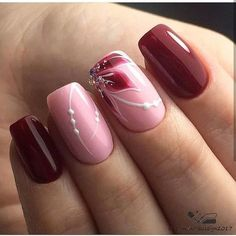 Nageldesign neue Modelle 2018 – Beste Trend Mode Nageldesign neue Modelle 2018 Christmas nails are that necessary component of your good vacation look. Beautiful Nail Designs, Beautiful Nail Art, Cool Nail Designs, Nail Art Flowers Designs, Pink Nails, Gel Nails, Acrylic Nails, Nail Polish, Stylish Nails