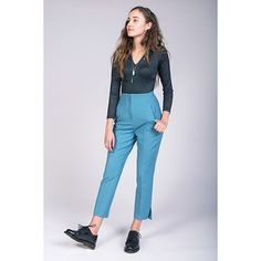 Named Clothing Tyyni Cigarette Trousers Sewing Pattern - High-waisted and midi-length straight-leg pants. Slim and flattering fit,with side seams that are curved at the hip and waist. In-seam side pockets,zip fly fastening and vents at the leg openings. You can iron creases on the legs.  ::  $16.90