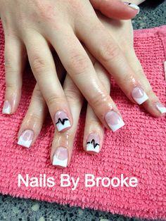EKG Ekg Tattoo, Nurse Life, Pretty And Cute, How To Do Nails, Pretty Nails, Girly Things, Nail Art, Tattoos, Hair