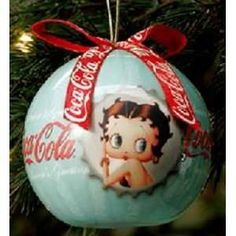 BETTY BOOP COCA COLA DECOUPAGE ORNAMENT: - have this!