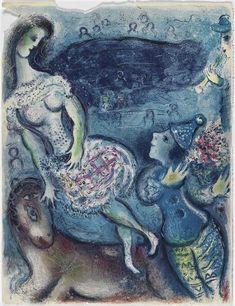 Illustration de la série : Cirque. Chagall, 1966.                                                                                                                                                     Plus