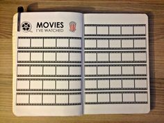 Keep in your journal all the movies you have watched! You could also add ratings if you want to. how to do so? 1. DESIGN PAGE Designed two kinds of pages. Page one includes the title along with mov…