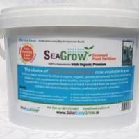 Seaweed Fertiliser | Seagrow Irish made natural organic powdered seaweed fertiliser, soil conditioner and tonic which is ideal for using on vegetables or plants in the home, garden or in the allotment.
