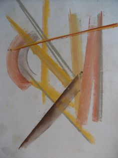"""OuLiPo #4"" abstract art by Steven de Ciantis, 2012. Pastel on canvas (42cmx68cm). Copyright Steven Mark de Ciantis @Caja~Miraculum, 2012."