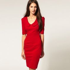 Classic Red Dress #fashion #woman #red