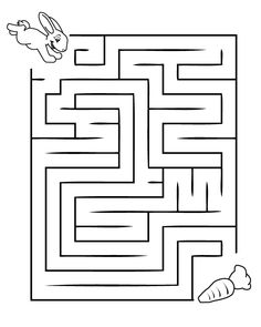 Printable Mazes for Kids. - Best Coloring Pages For Kids Mazes For Kids Printable, Printable Coloring Pages, Coloring Pages For Kids, Free Printable, Free Coloring, Coloring Book, Easter Worksheets, Kindergarten Worksheets, In Kindergarten