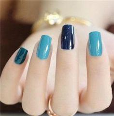 💁💅❤ - My Style - Nageldesign Fabulous Nails, Perfect Nails, Gorgeous Nails, Stylish Nails, Trendy Nails, Blue Nails, My Nails, Nagel Hacks, Nail Swag