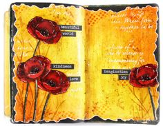 Vicky Papaioannou aka Clips-n-Cuts   Art Journal Layout – Poppies   http://www.clips-n-cuts.com w/video; May 2016