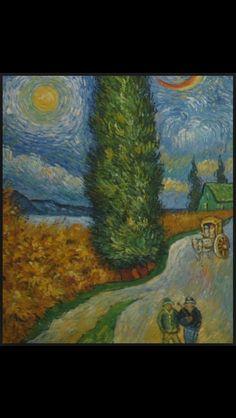 Weg met cipres, ster en maan, 1890