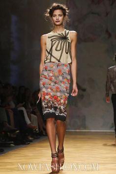 aclockworkpink:  Nicole Miller S/S 2014, New York Fashion Week