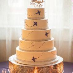 Original Airplane Wedding Cake Topper Mr and Mrs Jet Plane Pilot Cake Topper
