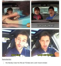 "They both do! Remember when Drake walked on set of iCarly and asked ""Megan"" where Josh and mom were? X)"