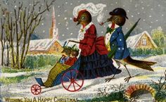 After the first Christmas card was sent in 1843, Victorians eagerly embraced the new tradition. Here are just a few of the wonderfully weird cards we tracked down.