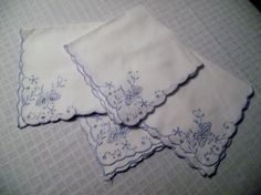 Set of Four BUTTERFLY Handkerchiefs,BRIDAL Handkerchiefs,Lot of Hankies,BRIDESMAID Gift,Gift Idea,Ladies Accessories,Butterfly Hankies