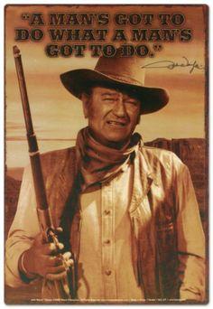 john wayne quotes | John Wayne Tin Sign at AllPosters.com