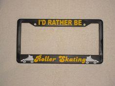I/'d Rather be FIGURE SKATING License Plate Frame