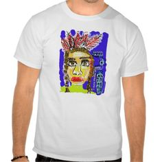 Pop Art Native American Indian Portrait Tshirts