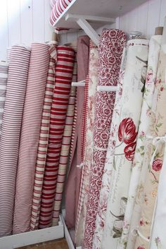 How I love red and white fabric!