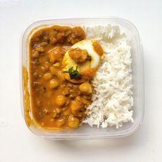 pompoen Curry met gehakt, bloemkool, kikkererwten en massala