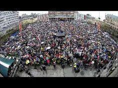"""Thousands of Norwegians stage sing-along against Breivik.  """"Himmel full av stjerner"""", 'Children of the Rainbow', is a Norwegian rendition of American folk singer Peter Seeger's 'Rainbow Race'.  http://storyful.com/stories/26992"""