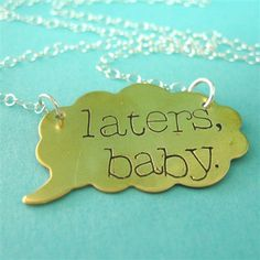 Laters, baby Necklace Fifty Shades of Grey