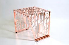A statement side table piece.Finish: Copper plated lasercut steel, hard coated.Size: 350mm (l) x 350mm (w) x 380mm(h)If not in stock, allow 4-6 weeks for del...