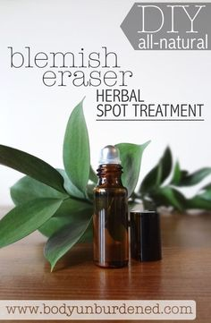 This DIY all-natural herbal spot treatment uses the power of essential oils and nourishing face oils to zap zits fast!