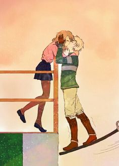 19gioia93: Another picture :) i love them so much together <3 and i want to draw more kisses! xD scorose <3