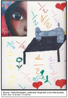 """Couverture réalisée par Sondess à partir du livre """"Rouge Bala"""" de Cécile Roumiguière. Pour voir mon livre, il faut cliquer sur mon dessin."""