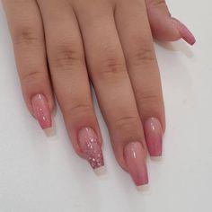 Sassy Nails, Cute Nails, Pretty Nails, Cute Acrylic Nail Designs, Best Acrylic Nails, Maquillage Black, Nails Design With Rhinestones, Minimalist Nails, Dream Nails