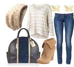 Striped Shirt and Jeans