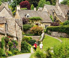 "Bibury, England The hilly Cotswold region is a designated ""Area of Outstanding Natural Beauty"" in southwestern England"