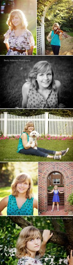 Allie - Portage Central Class of 2014 - senior girl with viola and with dog