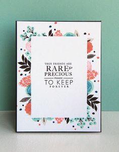 KandRdesigns: Precious Treasures featuring Wplus9 Fresh Cut Florals stamp set.