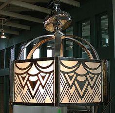 Trendy Art Deco Design Home Light Fixtures Ideas Art Deco Bar, Motif Art Deco, Art Deco Pattern, Art Deco Home, Art Deco Design, Chandeliers, Art Deco Chandelier, Art Deco Lighting, 1970s Art