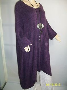 Great colour and shape~~ purple La Bass long tunic/dress osfa lagenlook, love it bought,