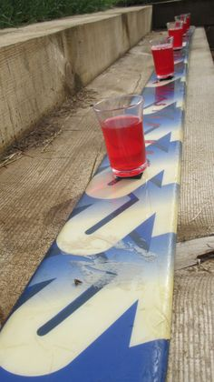 One of my favourite creations - a SHOT SKI for Apres Ski themed birthday party