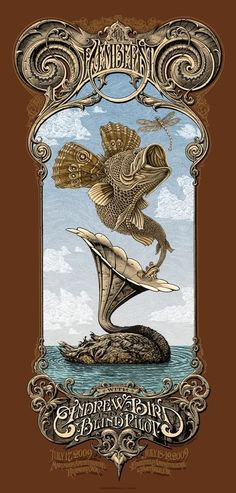 The Decemberists collab poster by Aaron Horkey and Emek -- love this so much!