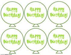 Classroom Freebies Too: Birthday Balloons