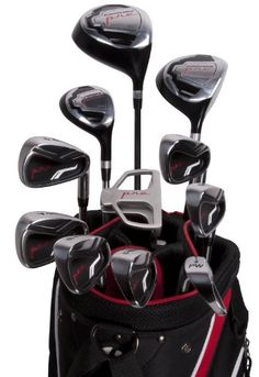 Pinemeadow Golf PRE Men's Golf Set, Right Handed PRE Men's Golf Set, Right Handed: For any skill level Gold Club Set includes: Driver Fairway wood Hybrid 7 irons Putter Stand bag 3 head covers Rain hood Best Golf Club Sets, Best Golf Clubs, Golf Clubs For Beginners, Golf Club Reviews, Sport Fitness, Golf Lessons, Golf Gifts, Golf Accessories, Dolphins