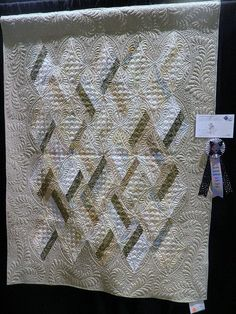 Really nice quilting....adds nice texture to the quilt.
