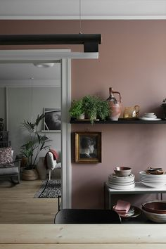 Wall Colors, House Colors, Kitchen Wall Design, Turbulence Deco, Kitchen Dinning Room, Colourful Living Room, Black Kitchens, Home Fashion, Colorful Interiors