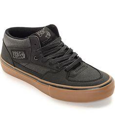 ee960e58ff4 Vans Half Cab Pro Xtuff Black   Gum Skate Shoes